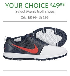 Your Choice of Select Men's Golf Shoes $49.98