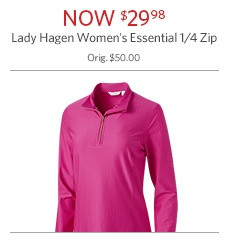 Lady Hagen Women's Essential 1/4 Zip Now $29.98
