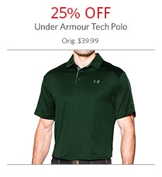 Under Armour Tech Polo 25% Off