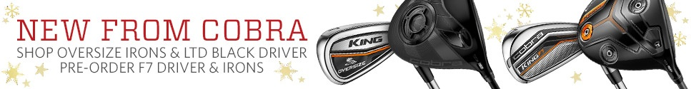 New from Cobra - Pre-Order F7 Driver & Irons