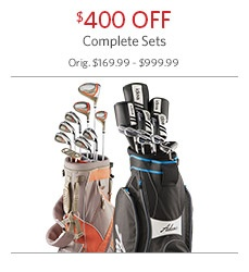 $400 Off Complete Golf Sets