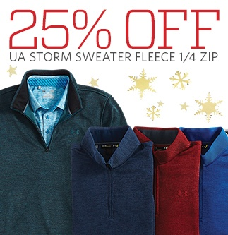 Save Up To 25% Off on Under Armour Sweater Fleece 1/4 Zips