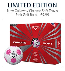 Callaway New Chrome Soft Limited Edition Truvis Pink Golf Balls - 12 Pack