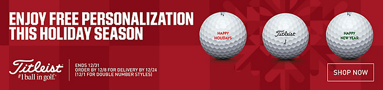 Shop Titleist Free Personalization