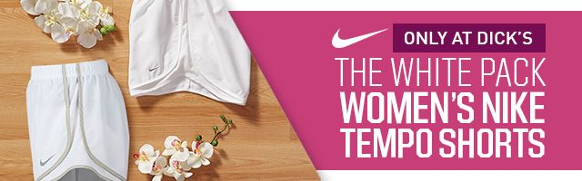 Shop Nike White Tempo Shorts
