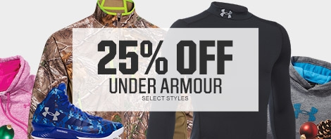Shop 25% Off Select Under Armour Styles