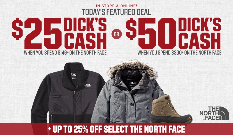 Shop The North Face And Get DICK'S Cash