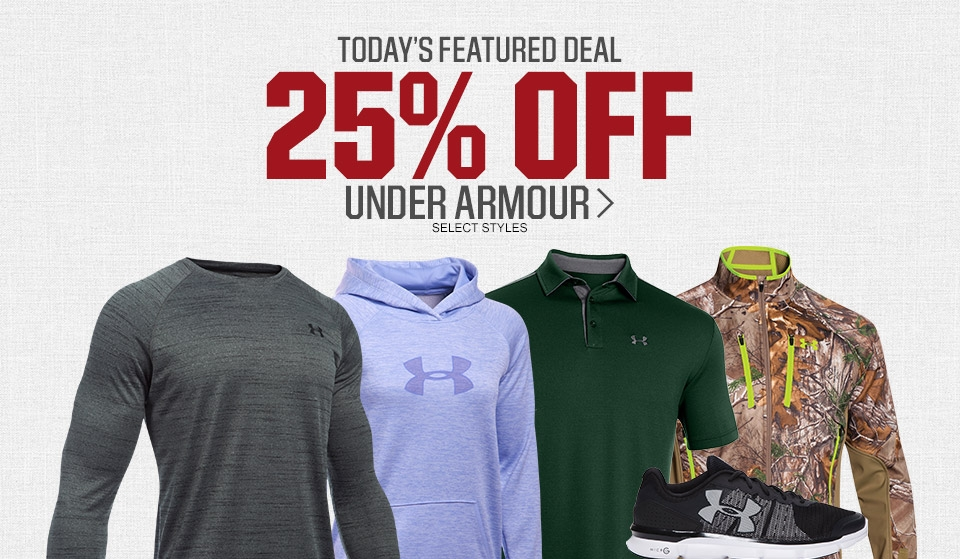 Shop Under Armour Up To 25% Off