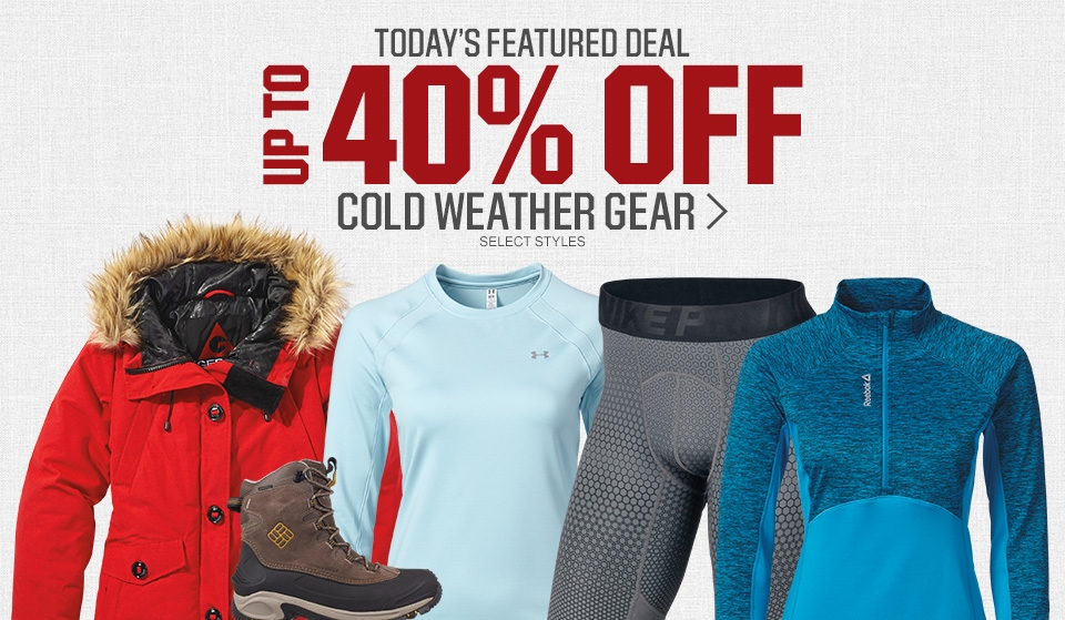 Shop Up To 40% Off Cold Weather Gear
