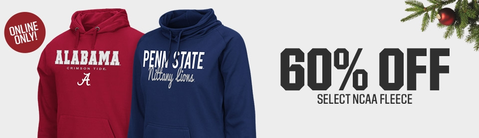 Shop 60% Off NCAA Fleece