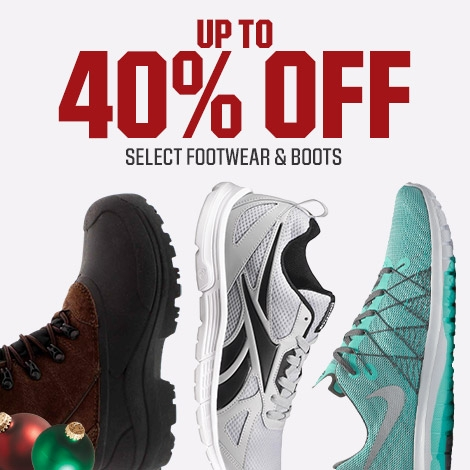 Shop Up To 40% Off Select Footwear And Boots