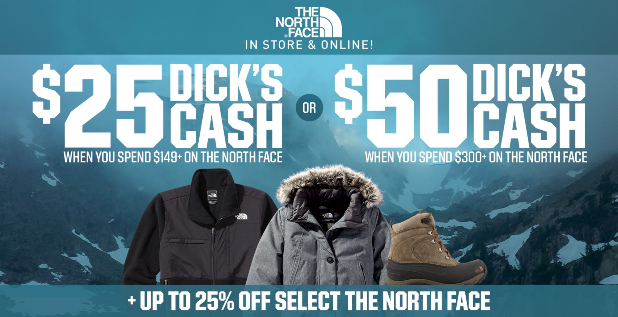 Shop The North Face + DICK'S Cash
