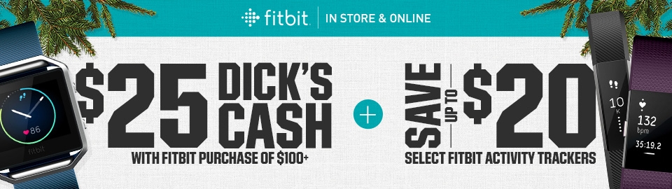 Save Up To $20 On Fitbit Activity Trackers + $25 Dick's Cash