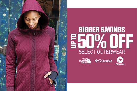 Save Up To 50% Off Outerwear