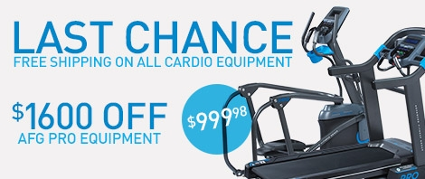Last Chance - Free Shipping On All Cardio Equipment