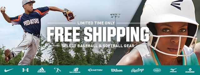 Free Shipping On Select Baseball And Softball Gear