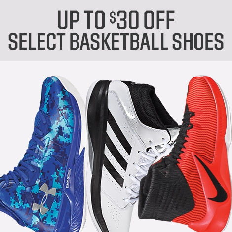 Shop $30 Off Select Basketball Shoes