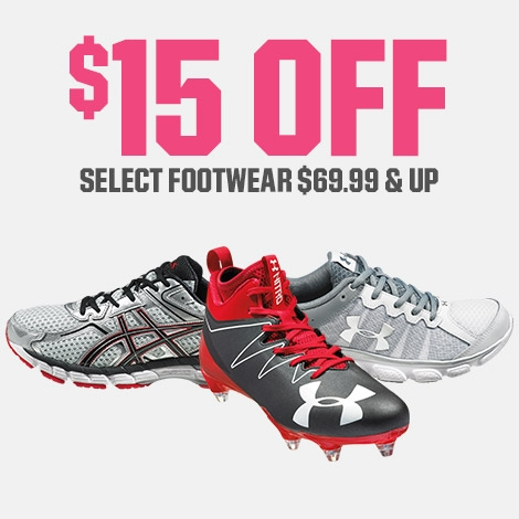 Shop $15 Off Select Footwear