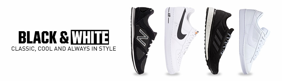 Shop Black And White Footwear