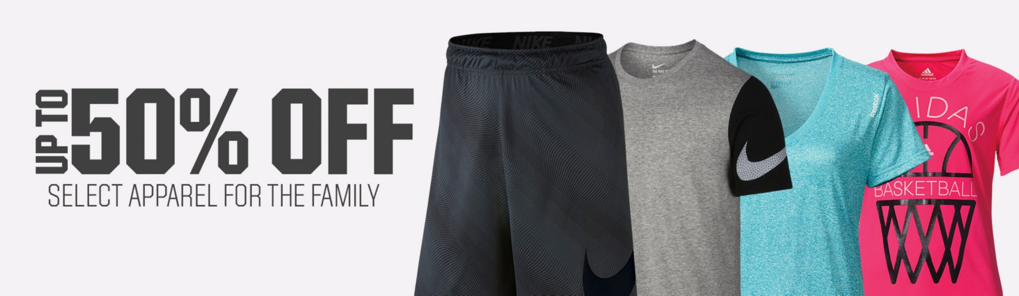 Shop 50% Off Select Athletic Apparel