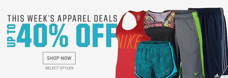 Shop 40% Off Apparel