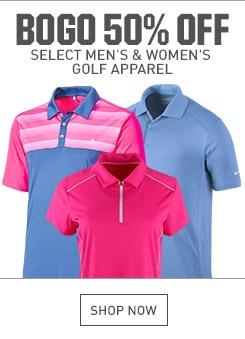 Shop BOGO 50% Off Select Golf Apparel