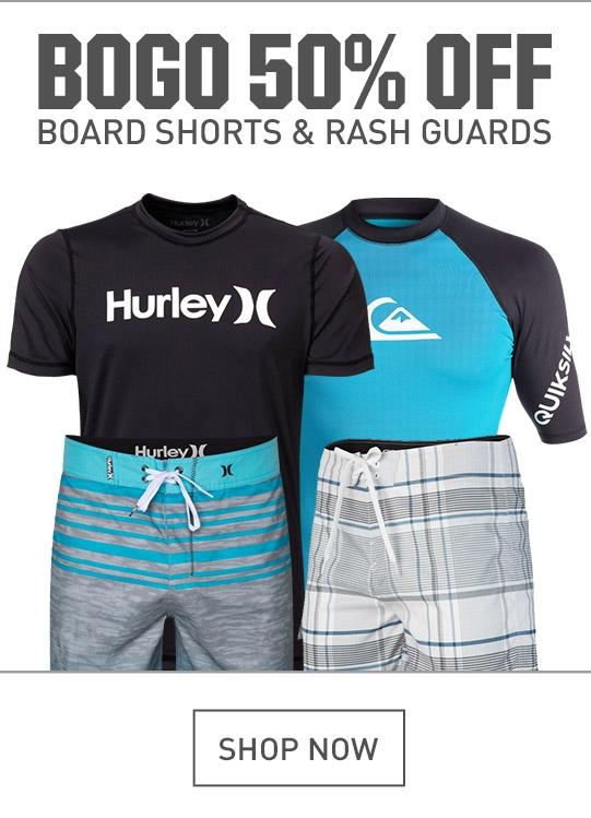 Shop Board Shorts and Rash Guards