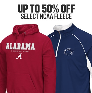 Shop Up T0 50% Off NCAA Fleece