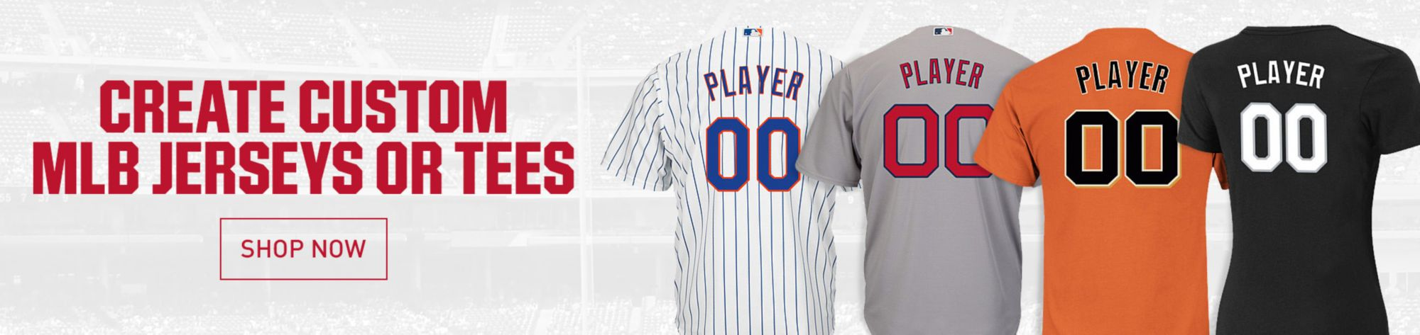 Create Custom MLB Jerseys or Tees