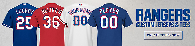 Custom Texas Rangers Jerseys and Tees