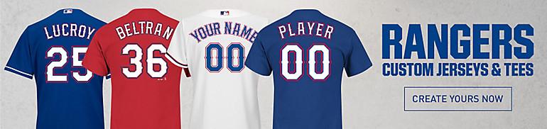 Custom Texas Rangers Jerseys and Tees