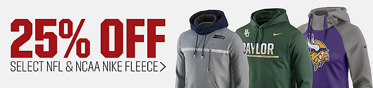 25% Off Select Nike NFL Fleece