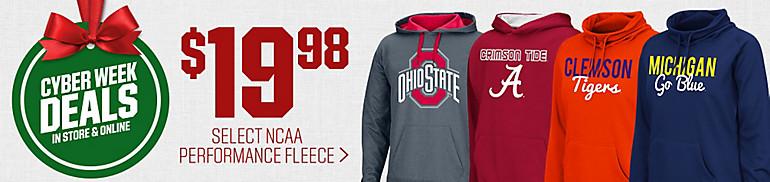 $19.98 Select NCAA Performance Hoodies