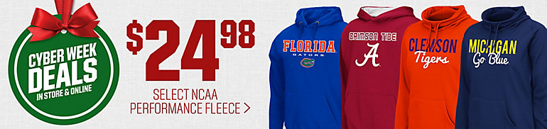 $24.98 Select NCAA Performance Hoodies