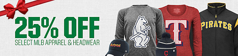 25% Off Select MLB Apparel