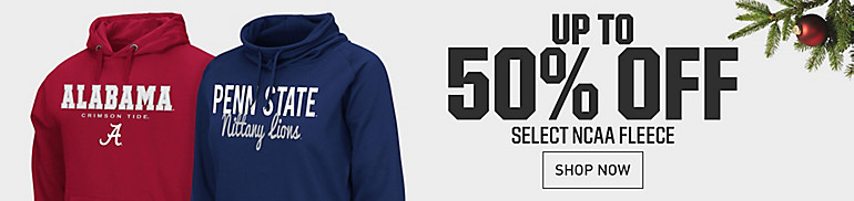 Up to 50% Off Select NCAA Fleece