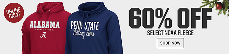Up to 60% Off Select NCAA Fleece