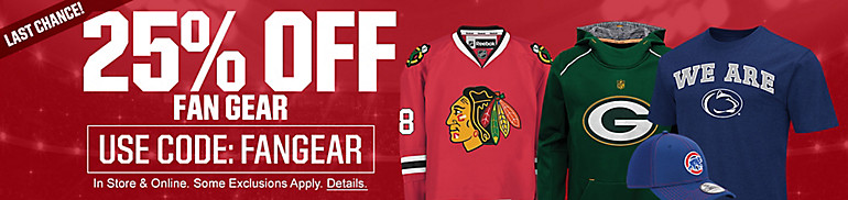 25% Off Fan Gear