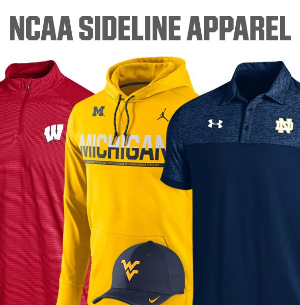 Shop NCAA Sideline Apparel