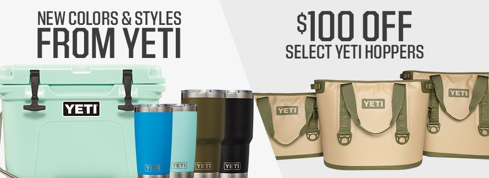 Shop YETI New Arrivals And $100 Off Select Hoppers