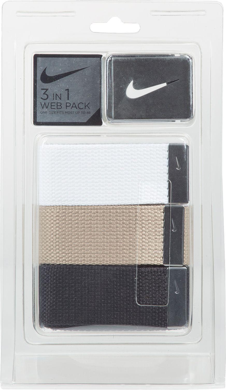Nike Mens Web Golf Belt 3 Pack DICKS Sporting Goods