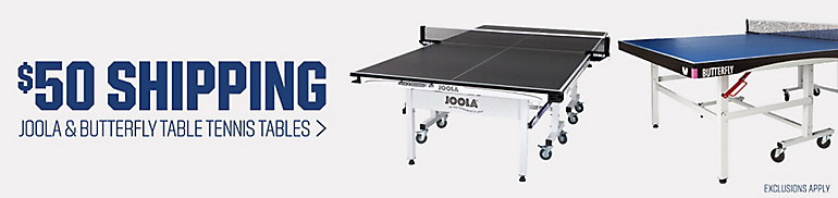 Shop $50 Shipping On Table Tennis