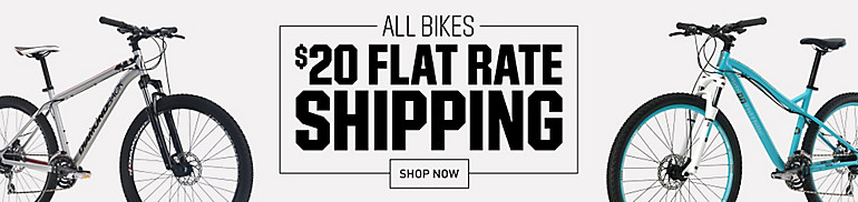 Flat Rate Free Shipping On Bikes