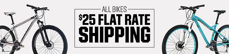 Flat Rate Shipping On Bikes