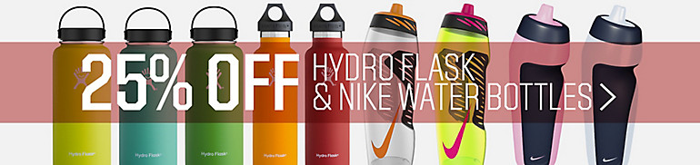 25% Off Hydroflask and Nike Water Bottles