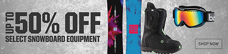 Shop Up To 50% Off Snowboard Equipment