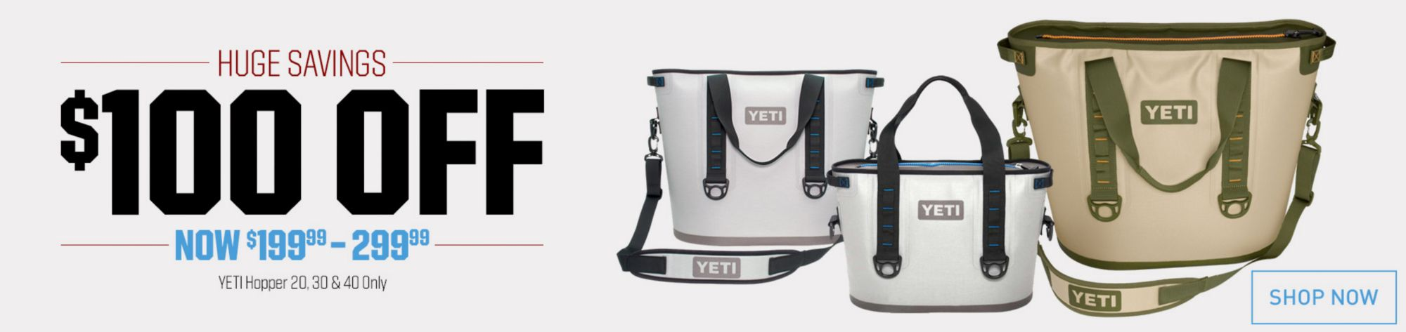 $100 Off Yeti Hoppers