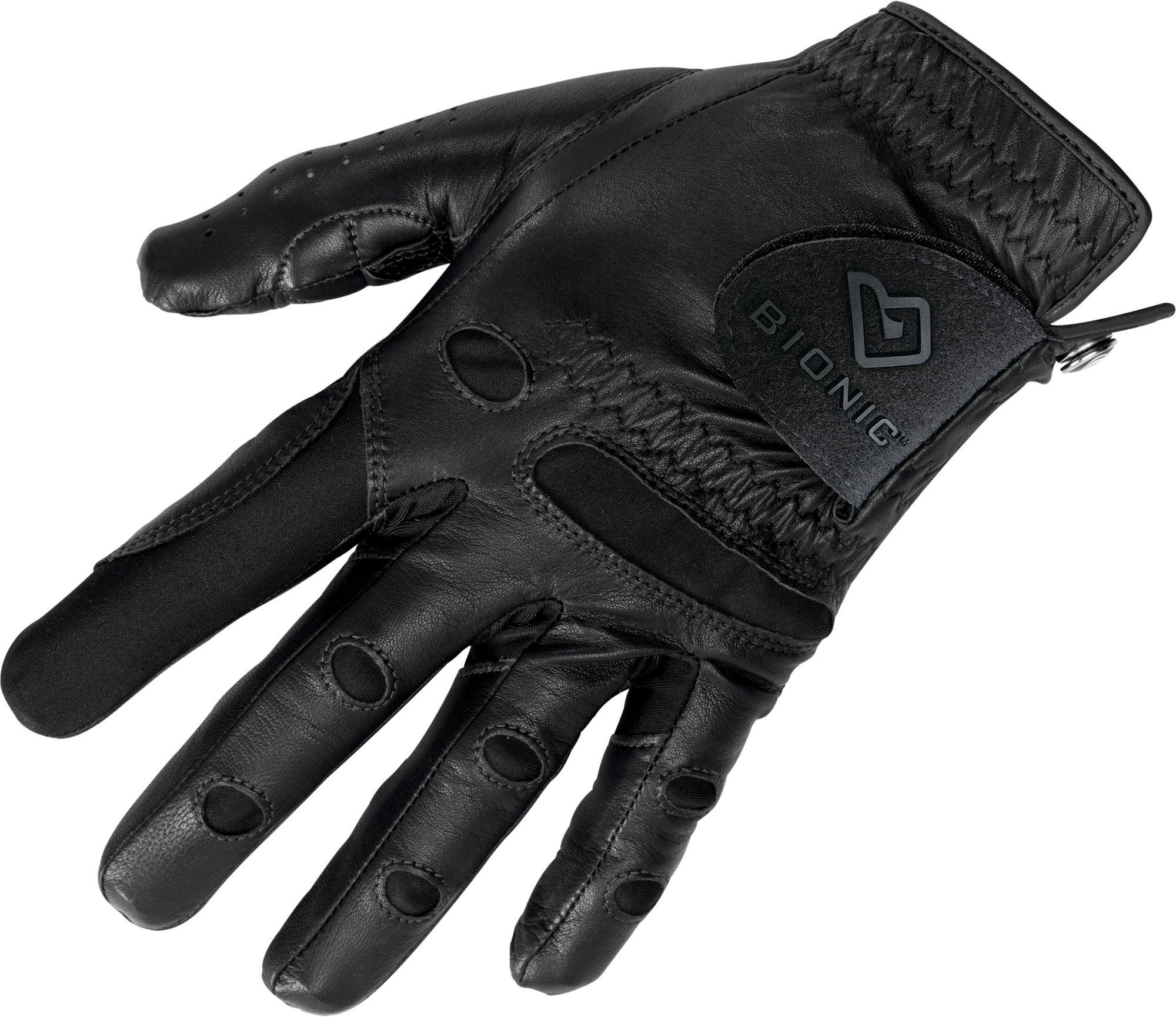 Black golf gloves -