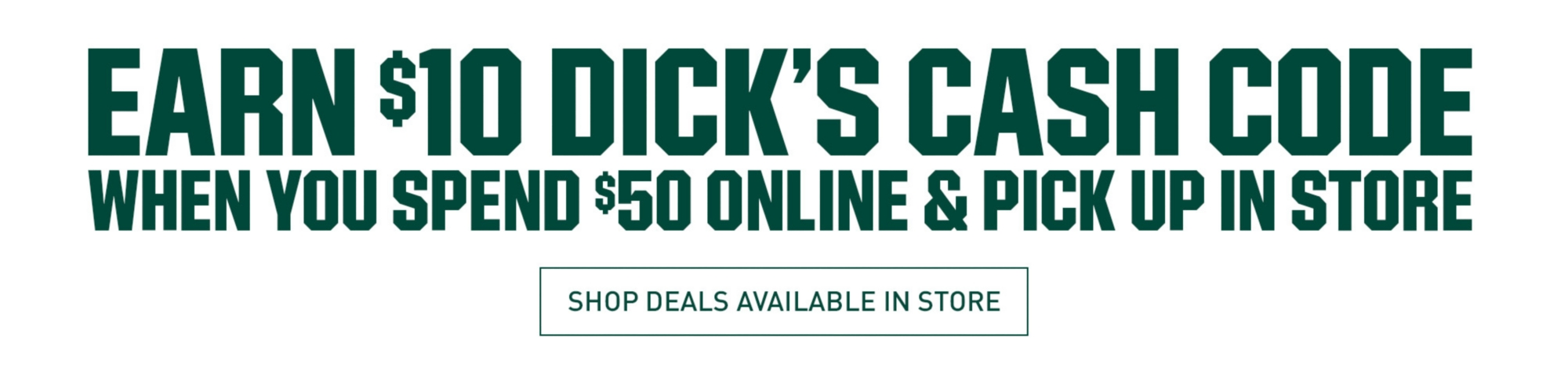 Buy Online Pickup In Store for 10 Off 50