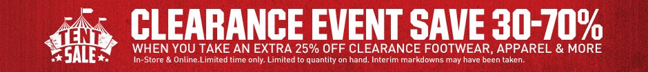 Clearance Event Save 30-70% In-Store and Online.
